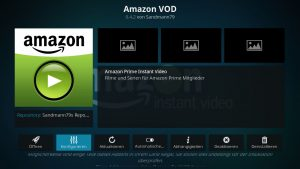 Amazon VOD Addon 01 Konfiguration