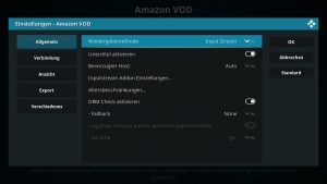 Amazon VOD Addon 02 Wiedergabemethode
