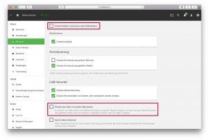 Emby – Benutzer Profil Einstellungen deaktivieren