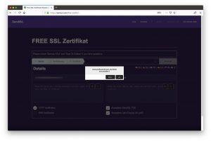 free SSL Zertifikat - 02 - Details prefixed-version