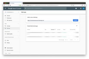 google search console - 05 - add new sitemap