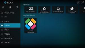 Kodi Addons installieren – TVHeadend Front- und Backend