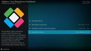 Kodi Addons installieren – LibreELEC Add-ons