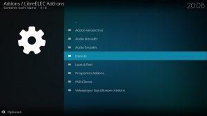 Kodi Addons installieren – Dienste