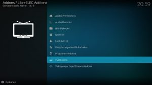 Kodi Addons installieren – PVR-Clients