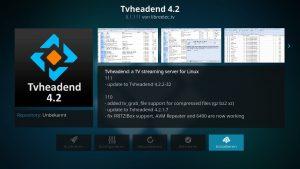 Kodi Addons installieren – TVHeadend 4.2 installieren