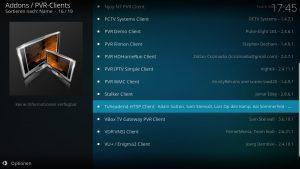 Kodi Addons installieren – TVHeadend HTSP Client
