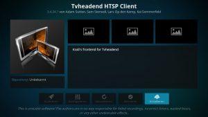 Kodi Addons installieren – TVHeadend HTSP Client installieren