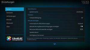 Kodi Einstellungen LibreELEC 02 – Tastaturbelegung