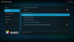 Kodi Einstellungen LibreELEC 03 – Zeitserver