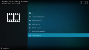 Kodi Emby Addons – Video Addons
