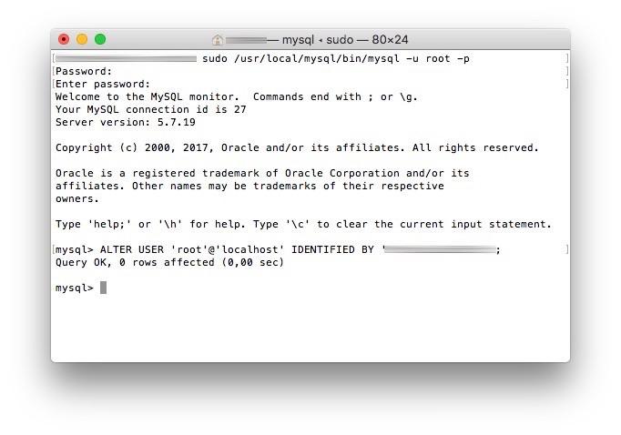 MySQL Passwort geaendert