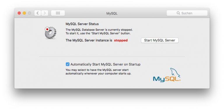 MySQL Systemeinstellungen