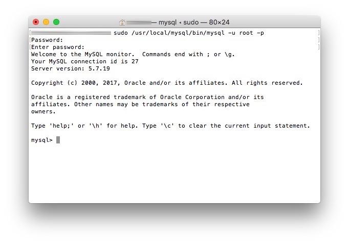 MySQL Terminal Passwort aendern