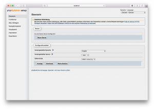 phpMyAdmin Setup 01 – Neuer Server