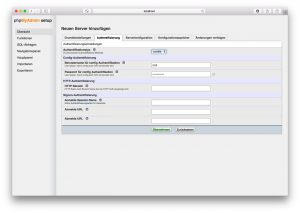 phpMyAdmin Setup 02 – Authentifizierung