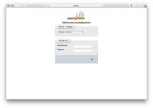 phpMyAdmin Setup 04 – Login