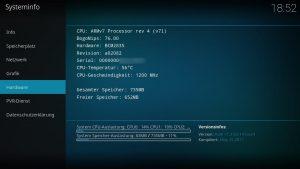 Raspberry Pi Serial Systeminformationen