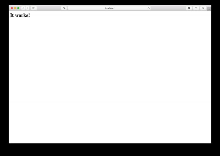 WordPress – lokale Entwicklungsumgebung auf macOS Sierra einrichten – Apache It works