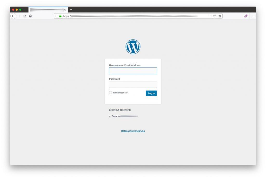 WordPress - Backend Login