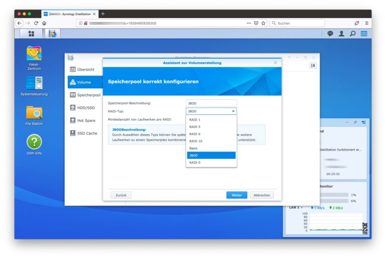 Speicher-Manager - 06 - Volumeerstellung Speicherpool konfigurieren