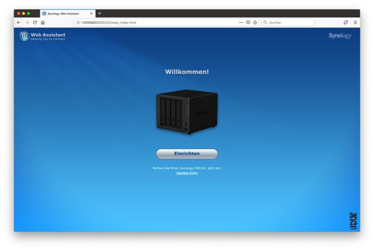 Synology Web-Assistant - 01 - Willkommen