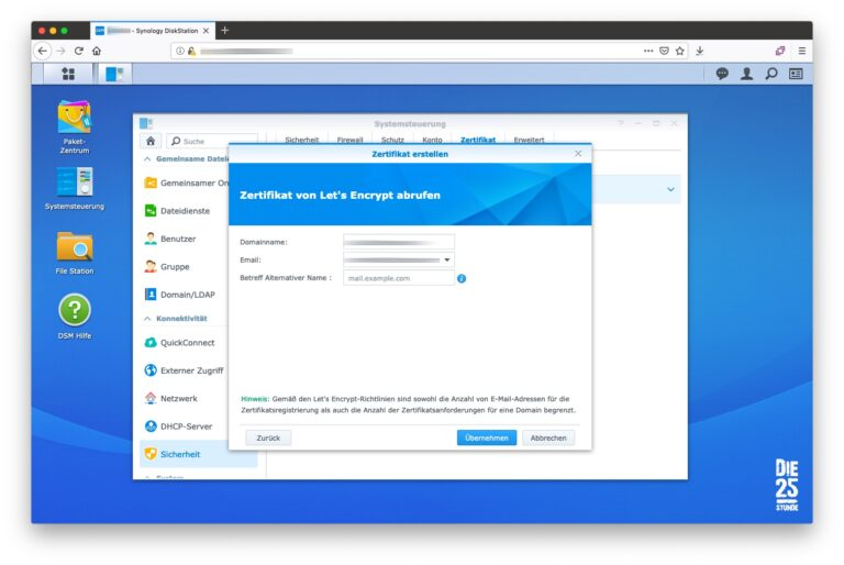 Zertifikat erstellen Lets Encrypt Daten