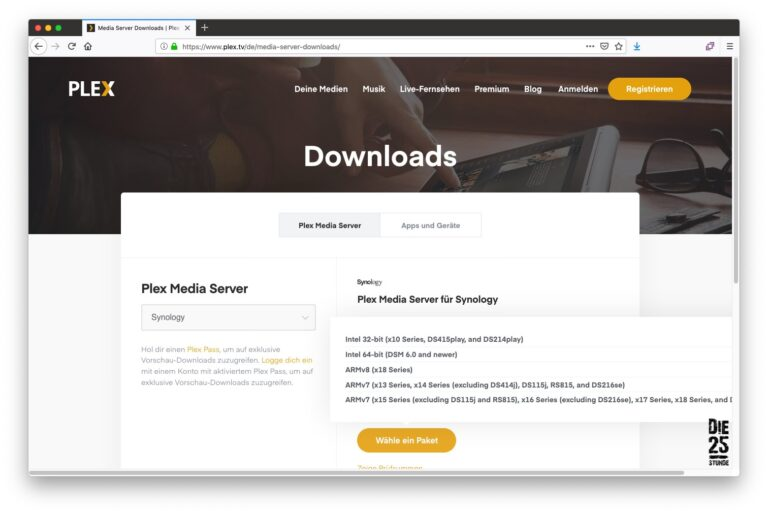 PLEX Download Paket