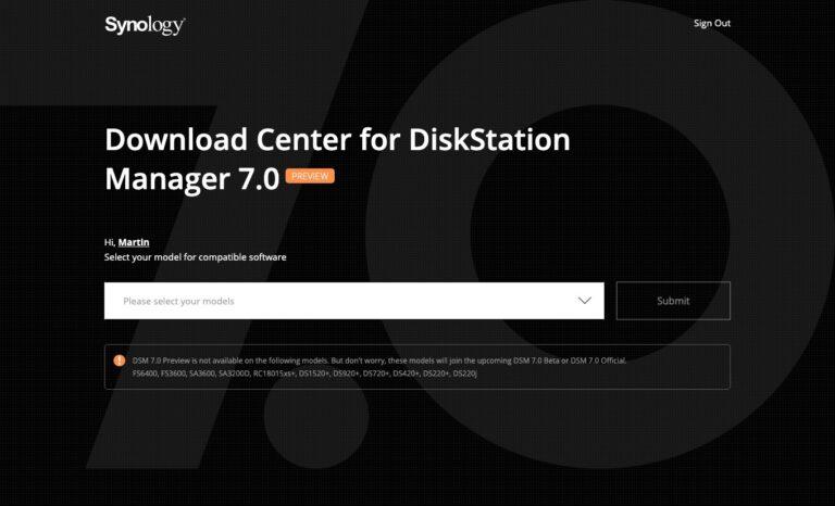 DSM 7 - Preview Program - Download Center