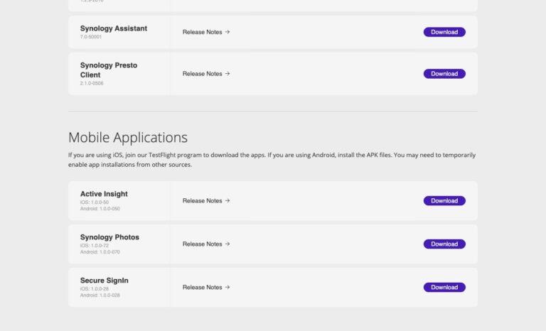 DSM 7 - Preview Program - Download Mobile Apps