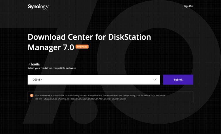 DSM 7 - Preview Program - DS918+
