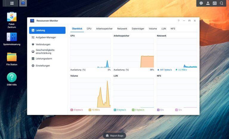 DSM 7.0 - Ressourcen-Monitor
