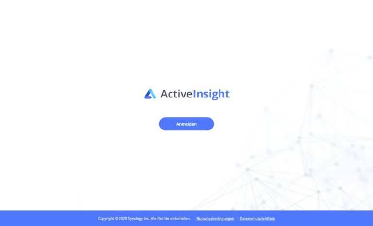 DSM 7.0 - Synology Active Insight Ueberblick
