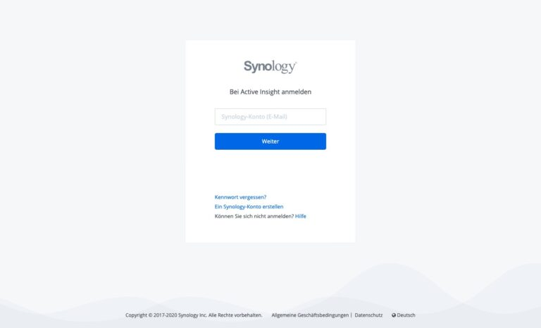 DSM 7.0 - Synology Active Insight anmelden