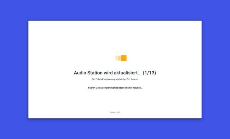 DSM 7.0 - Upgrade Pakete Audio Station
