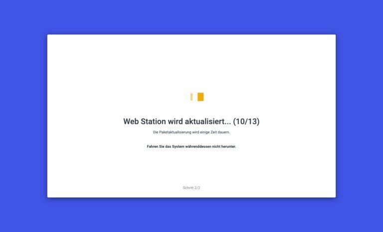 DSM 7.0 - Upgrade Pakete Web Station