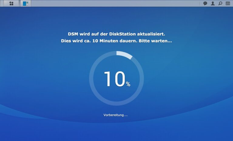 DSM 7.0 - Upgrade Vorbereitung Installation DSM