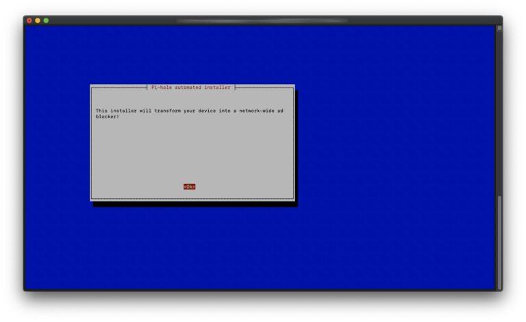 Pi-hole - 01 - Installer