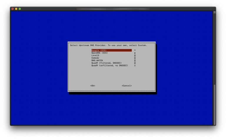 Pi-hole - 03 - DNS-Provider