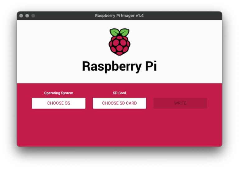 Raspberry Pi Imager - Start