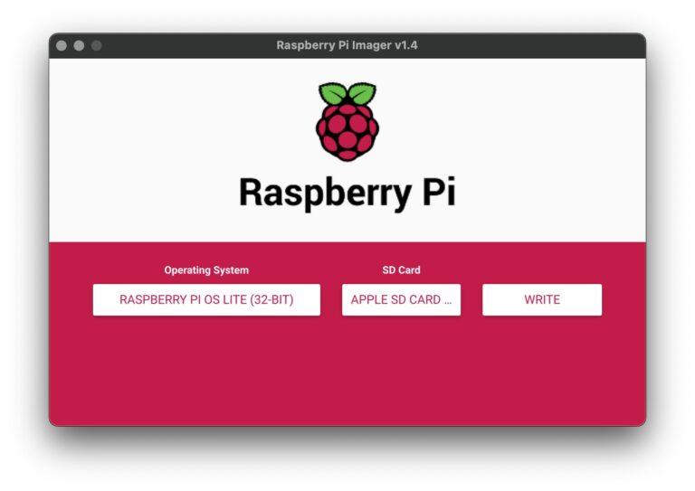 Raspberry Pi Imager - Write