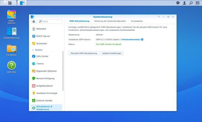 Upgrade - Systemsteuerung aktualisieren und wiederherstellen